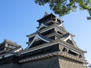 「熊本赤十字病院」がある熊本のシンボル熊本城